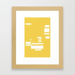 Call Outs Framed Art Print