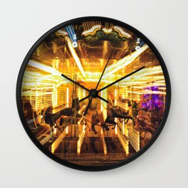 Flying horses carousel Wall Clock