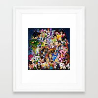dragonball z Framed Art Prints featuring DragonBall Z - Insane amount of Characters by Mr. Stonebanks