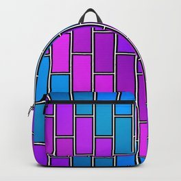 BRICK WALL #2 (Purples, Violets & Turquoises) Backpack