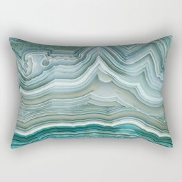 Agate Crystal Blue Rectangular Pillow