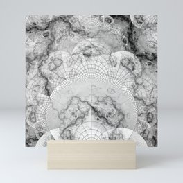 Foliated Marble as a Geometric Map of the Universe Mini Art Print