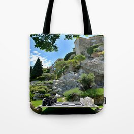 Eze Village Chess Game Tote Bag