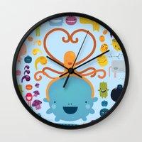 best friends Wall Clocks featuring Best Friends by Piktorama