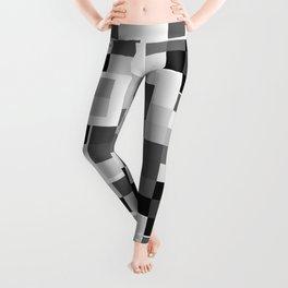 Grayscale Squares Leggings