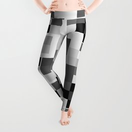 Grayscale Squares Leggings