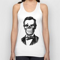 lincoln Tank Tops featuring Lincoln Skull by BIOWORKZ
