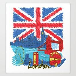 UK London England British Kingdom Gift Art Print