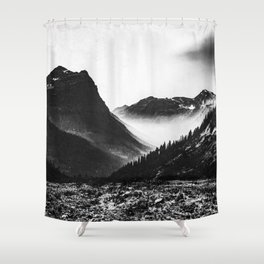 Mountain Valley Glacier National Park Shower Curtain