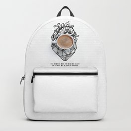 Win My Heart With Coffee Backpack