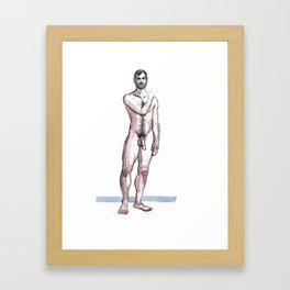 RYAN, Nude Male by Frank-Joseph Framed Art Print
