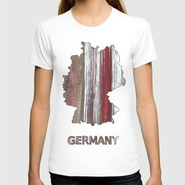 Germany map outline Wenge watercolor T-shirt