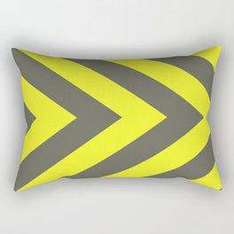 Chevrons warning sign Rectangular Pillow