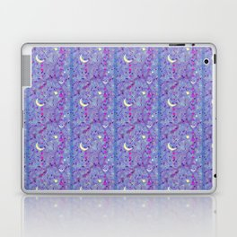 Crescent Moon and Hot Pink Stars Laptop & iPad Skin