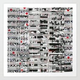 Opportunistic Species (P/D3 Glitch Collage Studies) Art Print