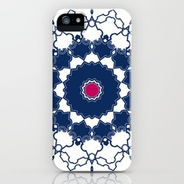 Red blue ornament 2 iPhone Case