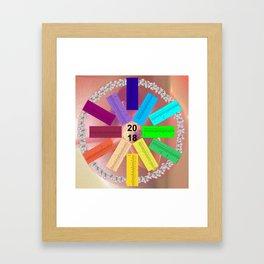 Kalender 2018 de - keltische Feiertage Framed Art Print