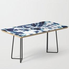 Tie Dye Sunburst Blue Coffee Table