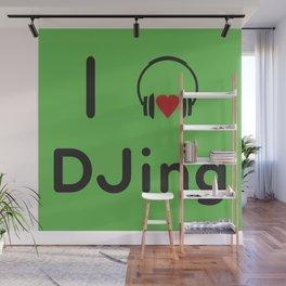I heart DJing Wall Mural