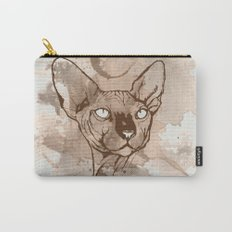 Watercolor Sphynx (Sepia/Coffee stain) Carry-All Pouch