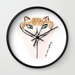 Vulvacat - Ginger Gold Wall Clock