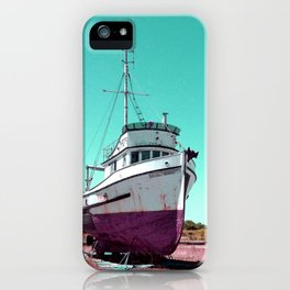 Wooden Boat Troller Fishing Oregon Coast iPhone Case
