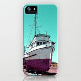 Wooden Boat Troller Fishing Oregon Coast iPhone Case