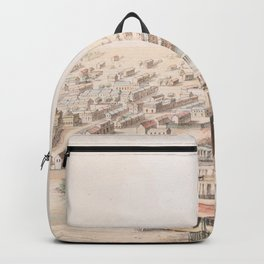 Vintage Pictorial Map of Galveston TX (1855) Backpack