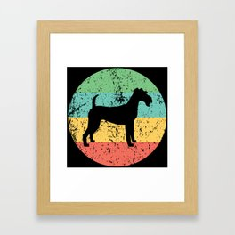 Irish Terrier Vintage Retro Irish Terrier Dog Framed Art Print