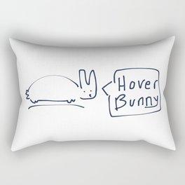 Hover Bunny RABBITS TALKING Rectangular Pillow