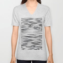 Hand Painted Lines / Dark Beige Unisex V-Neck