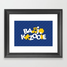 Banjo-Kazooie - Blue Framed Art Print
