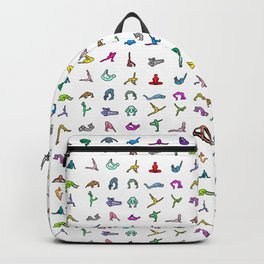 Rainbow Yoga Poses Backpack