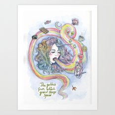 The Goddess From Which Grand Things Spew Art Print
