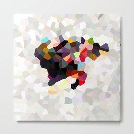 Spain Landscape Geometric Abstract Metal Print
