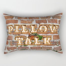 Pillow Talk - Brick Rectangular Pillow
