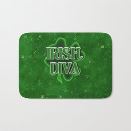 Irish Diva - St Patrick's Day Shamrock Bath Mat