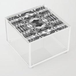 B&W Watercolor Ikat Acrylic Box