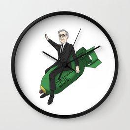 Karl Barth dropping bombs Wall Clock