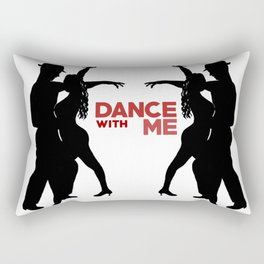 Dance with me - Ink Painting +  Typography Wall Art Home Decor Black and White Music  Rectangular Pillow
