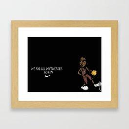 """Kyrie Irving """"We Are All Witnesses... Again"""" Banner Framed Art Print"""