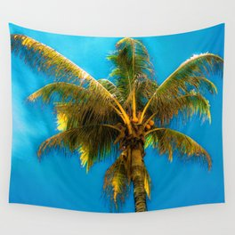 Sunlight Strikes the Coconut Palm Wall Tapestry