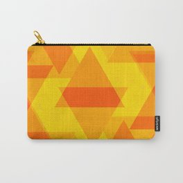 Bright yellow and orange large triangles in the intersection and overlay. Carry-All Pouch