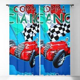 1939 Italian Grand Prix Motor Racing Coppa Ciano Alfa Corse Vintage Poster Blackout Curtain