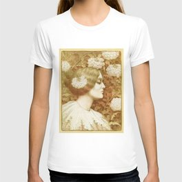 Autumn Woman, art nouveau drawing Paul Berthon 1900 T-shirt