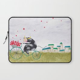 Vaca en bici! Laptop Sleeve