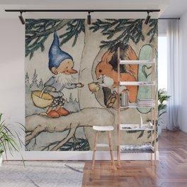 """The Generosity of Mr. Squirrel"" by Fritz Baumgarten 1920 Wall Mural"