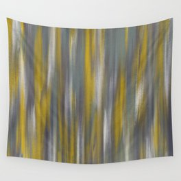 Chartreuse and Grey Woven Textile Design Wall Tapestry