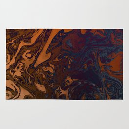 Orange Gradient Marble #marble #orange #blue #planet Rug