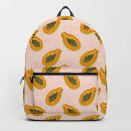 Papaya in sunset Backpack
